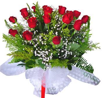 11 adet gösterisli kirmizi gül buketi  Polatlı internetten çiçek satışı