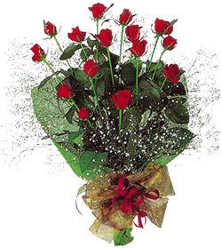 11 adet kirmizi gül buketi özel hediyelik  çiçekçi mağazası
