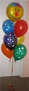 12 adet uçan balon buketi