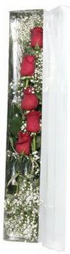 çiçek siparişi sitesi   5 adet gülden kutu güller