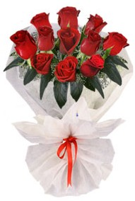 11 adet gül buketi  internetten çiçek siparişi  kirmizi gül