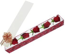 Polatlı internetten çiçek satışı  kutu içerisinde 5 adet kirmizi gül