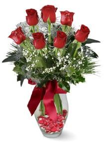 7 adet vazoda gül  Polatlı internetten çiçek satışı  kirmizi gül