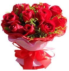 9 adet kirmizi güllerden kipkirmizi buket  Polatlıdaki çiçekçiler