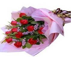 11 adet kirmizi güllerden görsel buket  Polatlı çiçek gönderme sitemiz güvenlidir