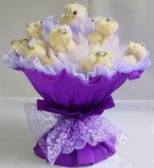15 adet ayiciktan ayi buketi  Polatlıda çiçekçi güvenli kaliteli hızlı çiçek