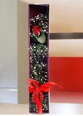 kutu içinde tek kirmizi gül  Polatlı çiçek online çiçek siparişi