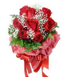 9 adet en kaliteli gülden kirmizi buket  Polatlıdaki çiçekçiler çiçek servisi , çiçekçi adresleri