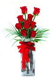 Polatlıya çiçek Ankara çiçekçi telefonları  9 adet mika yada cam vazoda gül tanzimi