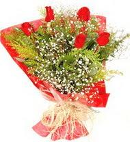 Polatlı anneler günü çiçek yolla  5 adet kirmizi gül buketi demeti