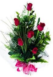 Polatlıda çiçekçi güvenli kaliteli hızlı çiçek  5 adet kirmizi gül buketi hediye ürünü