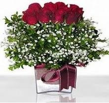 Polatlı internetten çiçek satışı  mika yada cam vazo içerisinde 7 adet gül