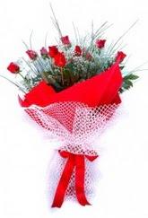 Ankara Polatlı İnternetten çiçek siparişi  9 adet kirmizi gül buketi demeti