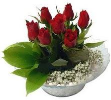 Polatlı internetten çiçek satışı  cam yada mika içerisinde 5 adet kirmizi gül