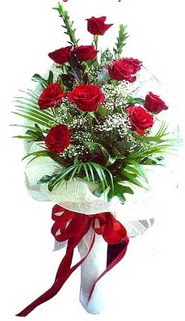 ucuz çiçek gönder  10 adet kirmizi gül buketi demeti