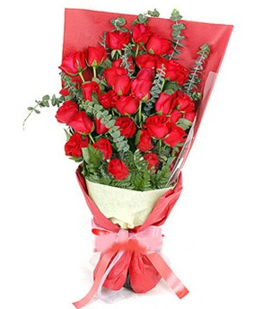 Polatlıda çiçek firması çiçek gönderme  37 adet kırmızı güllerden buket
