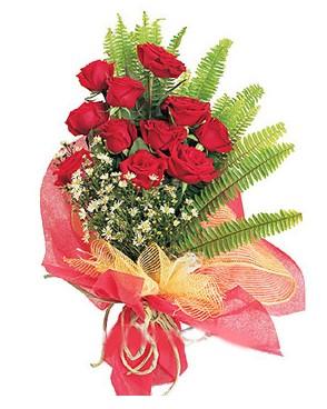 Ankara Polatlı İnternetten çiçek siparişi  11 adet kırmızı güllerden buket modeli