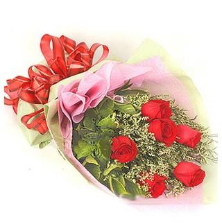 Polatlı Ankara çiçek , çiçekçi , çiçekçilik  6 adet kırmızı gülden buket