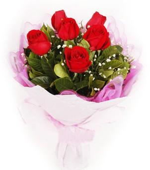 Polatlı hediye sevgilime hediye çiçek  kırmızı 6 adet gülden buket