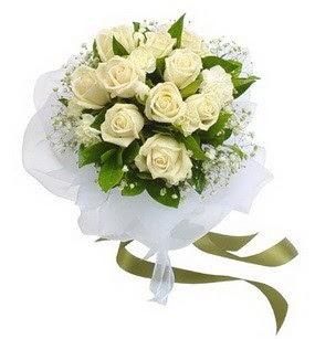 Ankara Polatlı online çiçekçi , çiçek siparişi  11 adet benbeyaz güllerden buket