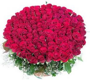 Ankara Polatlı online çiçekçi , çiçek siparişi  100 adet kırmızı gülden görsel buket