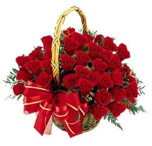 Polatlı Ankara hediye çiçek yolla  41 adet kırmızı gül sepeti aranjmanı
