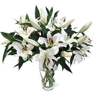 Polatlıya çiçek Ankara çiçekçi telefonları  3 dal görsel casablanca vazo tanzimi