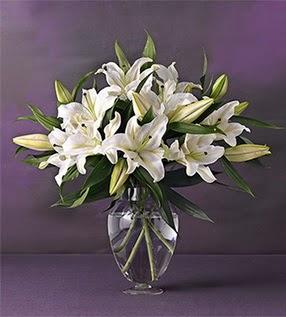 Ankara Polatlı İnternetten çiçek siparişi  4 dal cazablanca vazo çiçeği