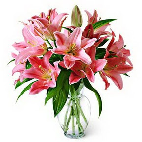 3 dal kazablanka görsel vazosu  internetten çiçek siparişi