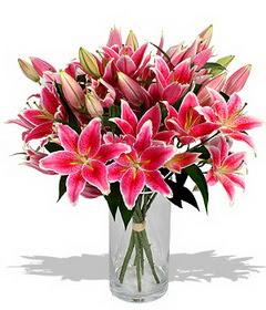 4 dal cazablanca görsel vazosu  çiçekçi mağazası