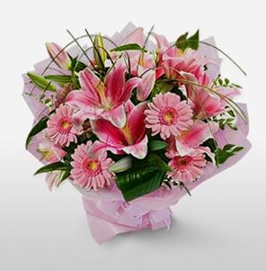 1 dal kazablanka ve kır çiçek görsel buketi  Polatlı internetten çiçek satışı