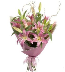 Ankara Polatlı İnternetten çiçek siparişi  3 dal cazablanca buket çiçeği