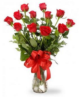 Polatlı Ankara çiçek , çiçekçi , çiçekçilik  12 adet kırmızı güllerden vazo tanzimi