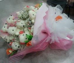internetten çiçek siparişi  21 adet ayıcıktan ayı buketi