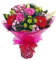 Karışık mevsim çiçekleri demeti  Ankara Polatlı online çiçek gönderme sipariş