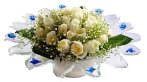 Polatlı çiçek online çiçek siparişi  11 adet Beyaz güller özel cam tanzim