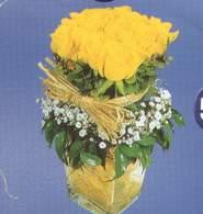 Polatlı anneler günü çiçek yolla  Cam vazoda 9 Sari gül