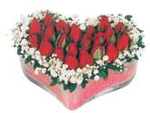 Polatlıya çiçek Ankara çiçekçi telefonları  mika kalpte kirmizi güller 9