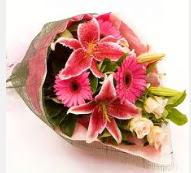 1 dal kazablanka ve mevsim çiçekleri  internetten çiçek siparişi