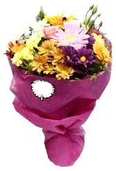 1 demet karışık görsel buket  Polatlı anneler günü çiçek yolla