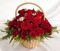 19 adet kırmızı gülden çiçek sepeti  Polatlıdaki çiçekçiler çiçek servisi , çiçekçi adresleri