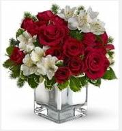 11 adet kırmızı gül ve beyaz kır çiçekleri  14 şubat sevgililer günü çiçek