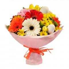 Karışık mevsim buketi Mevsimsel çiçek  internetten çiçek siparişi