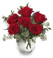 Vazo içerisinde 5 adet kırmızı gül  çiçekçi mağazası