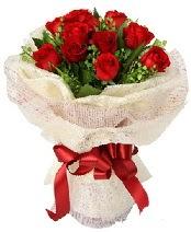 12 adet kırmızı gül buketi  Polatlı anneler günü çiçek yolla
