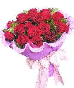 12 adet kırmızı gülden görsel buket  çiçekçi mağazası