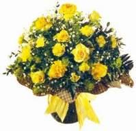 Polatlı Ankara çiçek , çiçekçi , çiçekçilik  Sari gül karanfil ve kir çiçekleri
