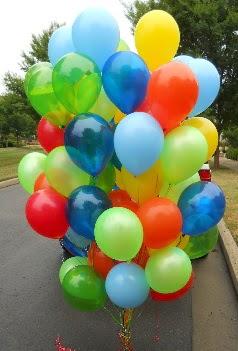 100 adet uçan balon rengarenk helyum gazlı  balon
