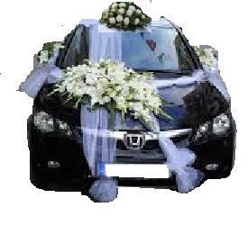 ucuz çiçek gönder  Çift çiçekli sünnet düğün ve gelin arabası süsleme