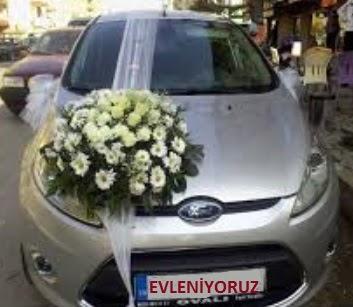ucuz çiçek gönder  Gelin arabası süslemesi